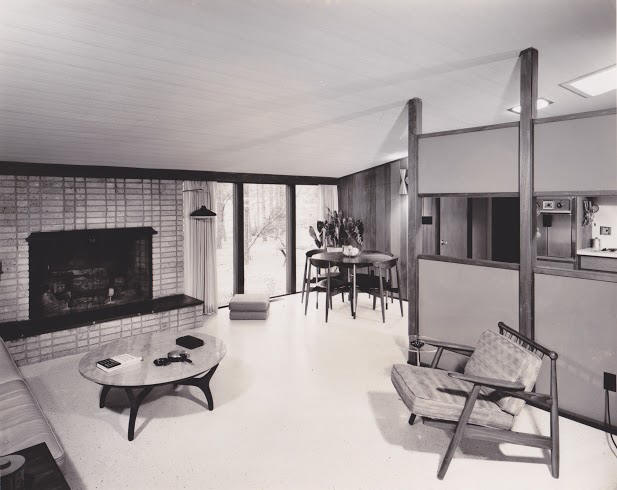 Displaying A. A. Oliver Jr. Residence Sedgefield NC 1956 Interior Photo 1.jpeg